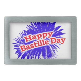 Happy Bastille Day Graphic Logo Belt Buckles