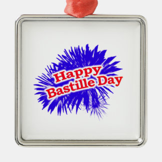 Happy Bastille Day Graphic Logo Metal Ornament