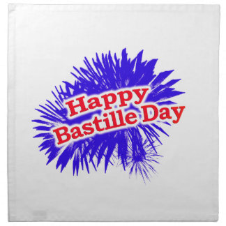 Happy Bastille Day Graphic Logo Napkin