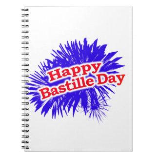 Happy Bastille Day Graphic Logo Notebook