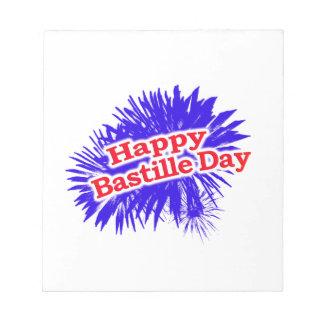 Happy Bastille Day Graphic Logo Notepad