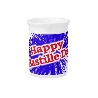 Happy Bastille Day Graphic Logo Pitcher