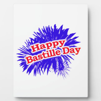 Happy Bastille Day Graphic Logo Plaque