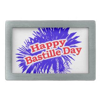Happy Bastille Day Graphic Logo Rectangular Belt Buckle