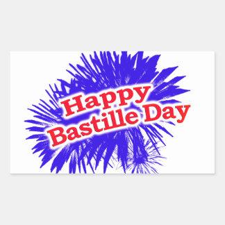 Happy Bastille Day Graphic Logo Rectangular Sticker