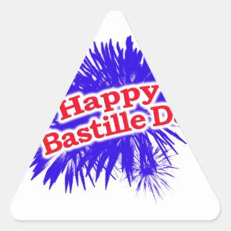 Happy Bastille Day Graphic Logo Triangle Sticker