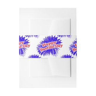 Happy Bastille Day Graphic Pattern Invitation Belly Band