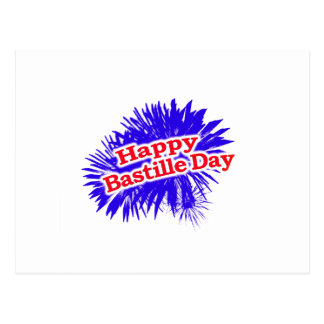 Happy Bastille Day Graphic Postcard
