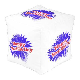 Happy Bastille Day Graphic Pouf