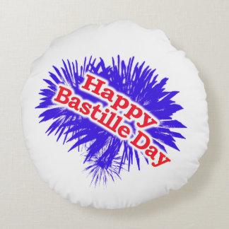 Happy Bastille Day Graphic Round Cushion