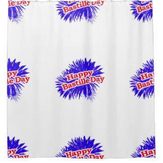 Happy Bastille Day Graphic Shower Curtain