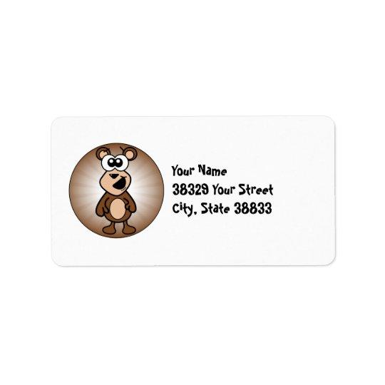 Happy Bear Address Label