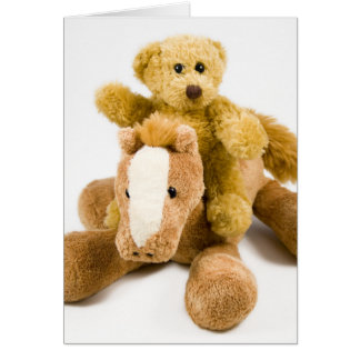 Happy Bear Day - Horse ride Greeting Card