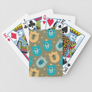 Happy Bear Kings Bicycle Playing Cards