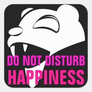 Happy Bear Square Sticker