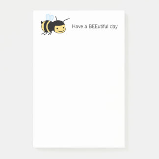 Happy Bee BEEutiful (Beautiful) Day Post-it Notes