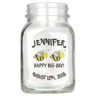Happy Bee Day Bumblebee Birthday Party Centerpiece Mason Jar