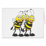 Happy Bee Family Greeting Card