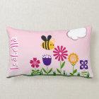 Happy Bee Flower Garden Personalised Lumbar Cushion
