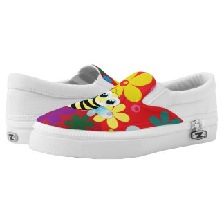Happy bee printed shoes