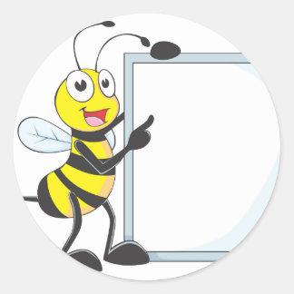 Happy Bee Round Sticker