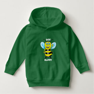 Happy Bee Toddler Hoodie (Customizable)