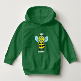 Happy Bee Toddler Hoodie (Customizable)