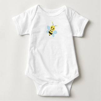 Happy Bee With Back Text Baby Romper Baby Bodysuit