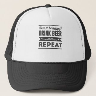 Happy Beer Booze German Shepherd Dog Life Funny Trucker Hat
