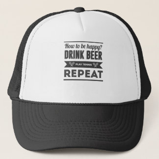 Happy Beer Booze Tennis Life Funny Trucker Hat