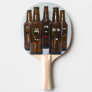 Happy Beer Bottles Ping Pong Paddle