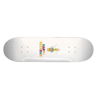 Happy Beerday Beerbottle Zhnp3 19.7 Cm Skateboard Deck