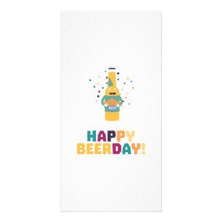 Happy Beerday Beerbottle Zhnp3 Card