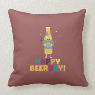 Happy Beerday Beerbottle Zhnp3 Cushion