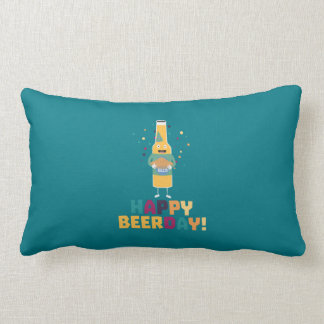 Happy Beerday Beerbottle Zhnp3 Lumbar Cushion