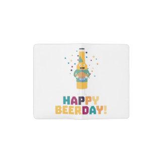 Happy Beerday Beerbottle Zhnp3 Pocket Moleskine Notebook