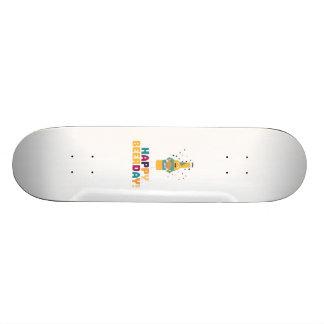 Happy Beerday Beerbottle Zhnp3 Skate Board Deck