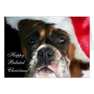 Happy belated Christmas Boxer Dog Card