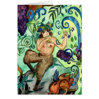 Happy Beltane Hymn To Pan Greeting Cards