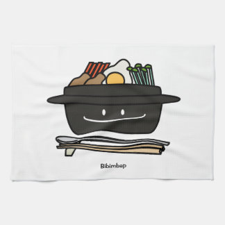 Happy Bibimbap Bowl Tea Towel