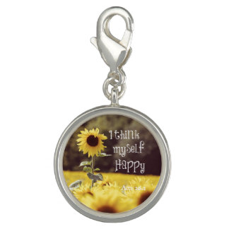 Happy Bible Verse with Sunflowers