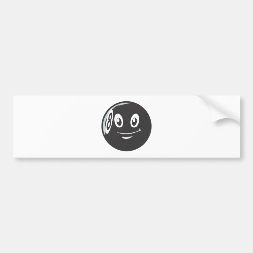 Happy Billiard Eight Ball Bumper Sticker