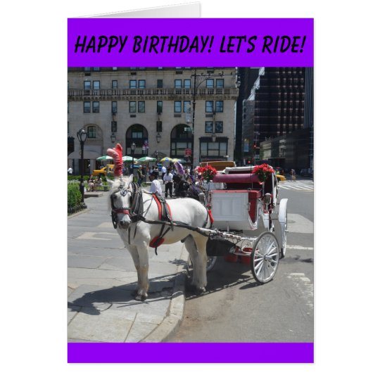 Happy Birhday!Let's Ride! Card