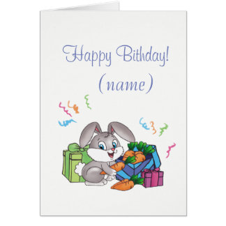 happy birthady - rabbit card