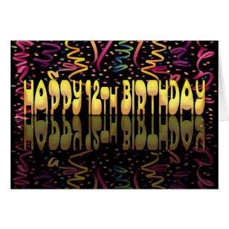 Happy Birthday 12 streamers Card