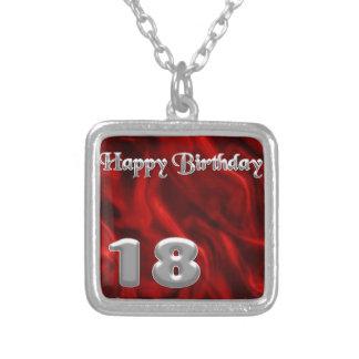 Happy Birthday 18 - red silk Necklaces