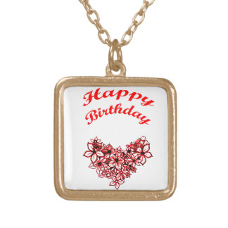 Happy Birthday 2 Gold Plated Necklace