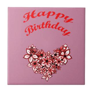 Happy Birthday 2 Small Square Tile