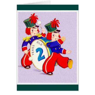Happy Birthday - 2 Year Old Boy/Girl Greeting Card