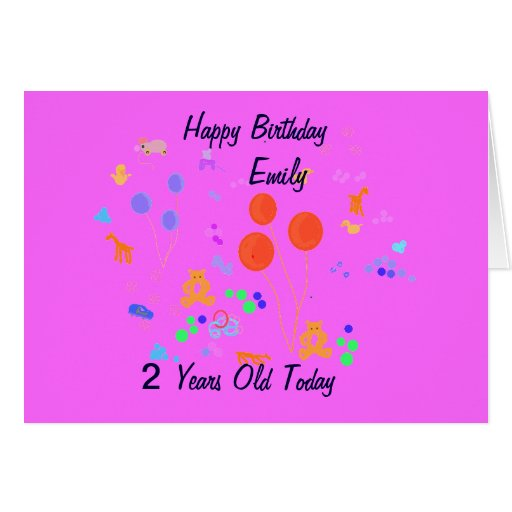 Happy Birthday 2 year old Greeting Cards
